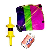 Ascension ® Kites Small ( Size 10 cm x 10 cm ) , Pack of 4 Kite Used for Kids, Gifts, Decorations, Art & Craft, Home Decor, basant panchami Decorations