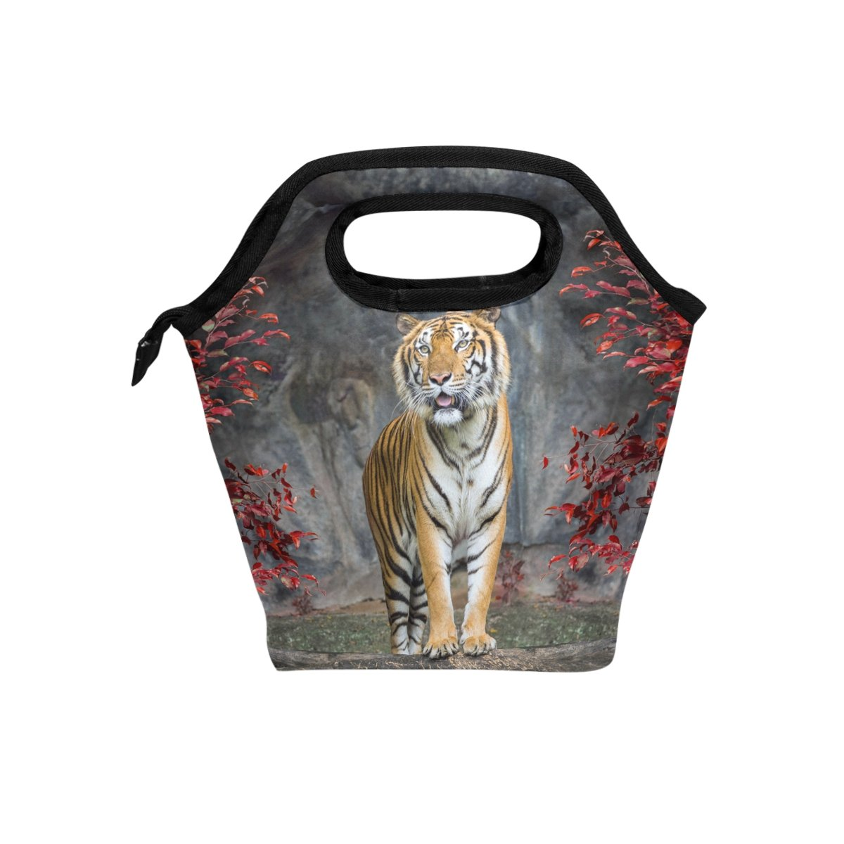 Bettken Lunch Bag African Animal Tiger Insulated Reusable Lunch Box Portable Lunch Tote Bag Meal Bag Ice Pack for Kids Boys Girls Adult Men Women