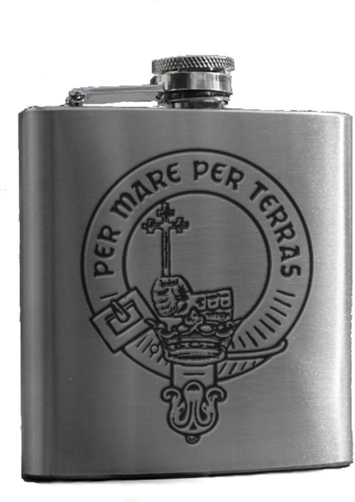 S Art Pewter Anderson of Wester Ardbreck Clan Crest 6oz Hip Flask Box Set