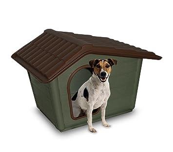 MEDIA WAVE store 768707 Caseta de Perro 100% Material Reciclado en Forma de cobertizo de 44x34x42: Amazon.es: Jardín