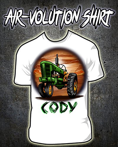 Personalized Airbrushed John Deere Tractor Shirt ()