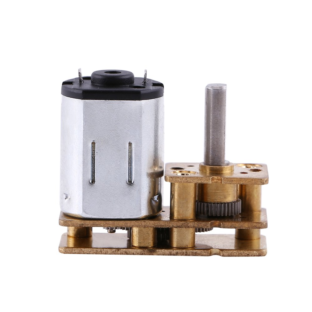 100RPM 6V DC Geared Motor, High Torque Mini Electric Speed Reduction Geared Box for Robot DIY