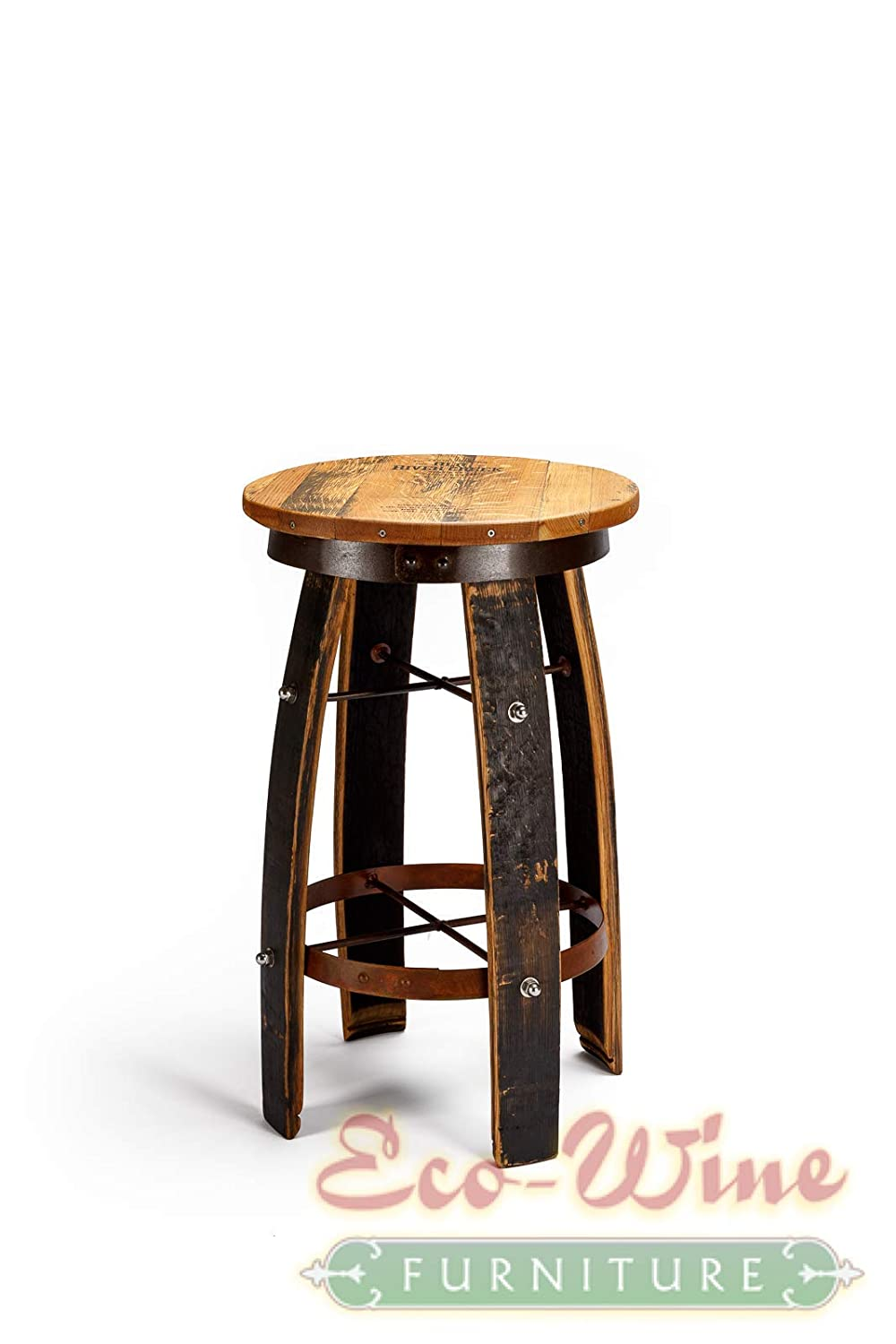 Phenomenal Amazon Com Bourbon Barrel Round Swivel Stave Bar Stools Pdpeps Interior Chair Design Pdpepsorg