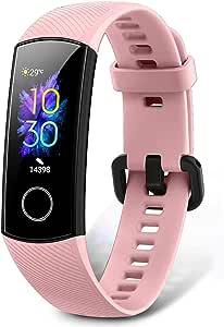 HONOR Band 5 Pulsera Actividad Inteligente Pulsera de Actividad con Pulsómetro Mujer Hombre Monitor de Actividad Deportiva Ritmo Cardíaco Impermeable IP68 Reloj Fitness con Podómetro, Rose: Amazon.es: Electrónica