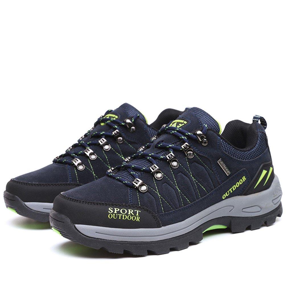 Rock Climbing Shoes Unisex Hiking Shoes Men Women Walking Sneaker Skid Proof Waterproof for Ourdoor Use-Blue-47 EU by Sherry Love (Image #3)