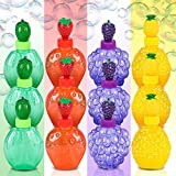 ArtCreativity Fruit Bubbles Blowing Wands for Kids with Fruity Scents (Set of 12)   3 Pineapple, Watermelon, Grape, and Strawberry Bubble Blowers   Fluid Included   Great Summer Toy   Party Favors