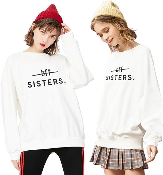 Meilleur Amie Sister Hoodie Best Friends Partenaire 2x Pull Col Ronde Pour Femme Sweat Shirt Pour Sœurs Amazon Fr Vetements Et Accessoires