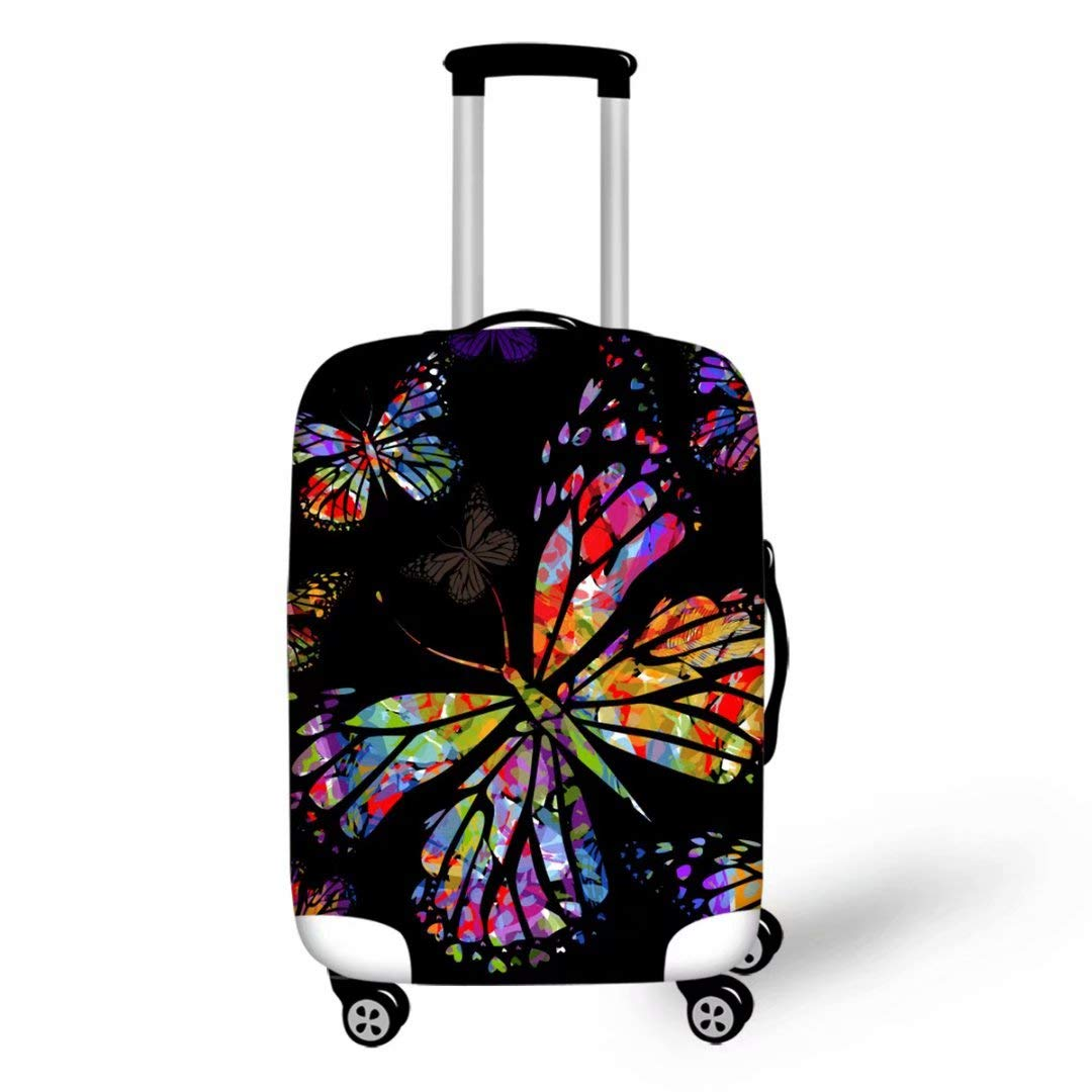 Advocator 3D Butterfly Luggage Cover Protector Travel Tags for Luggage Set