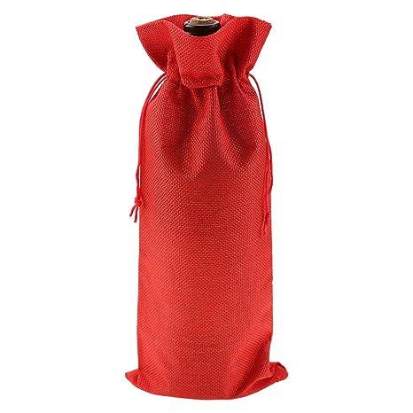 Bolsas de tela para botellas de vino, 12 piezas de lino ...
