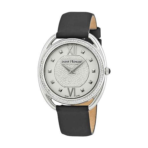 Reloj de Mujer con Esfera Plateada y Diamante de San Honor Charisma 721023 1PAAN: Amazon.es: Relojes