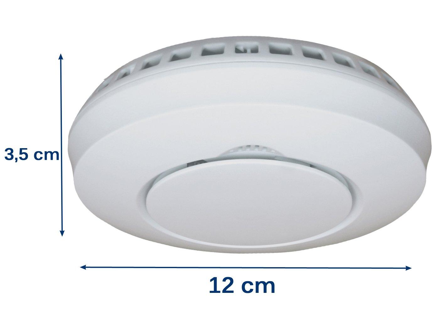 Elro Juego de 2 detector de humo con soporte magnético & Función de silencio, verlinkbar con Connects Smart Home Sistema de Elro y otros vernetzbaren ...