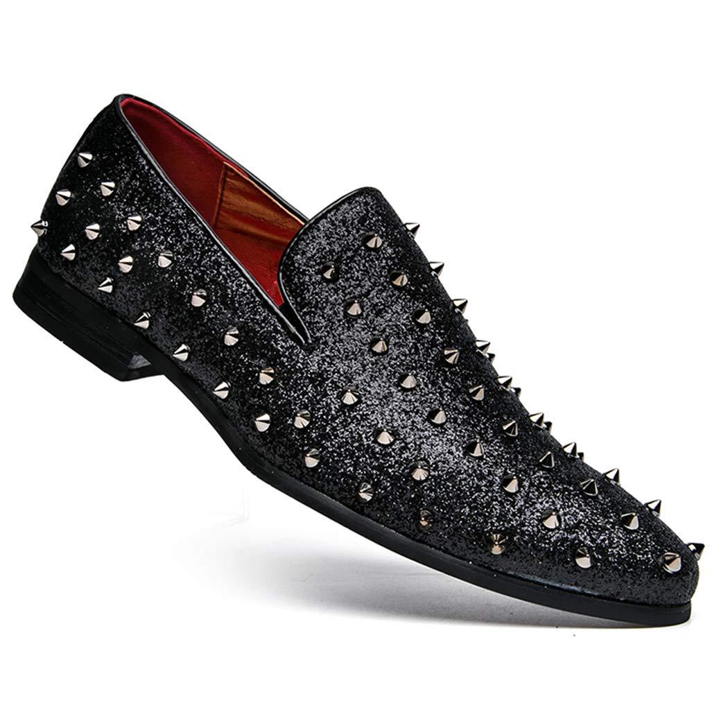 GDXH Männer Männer Männer Schuhe Niet Leder British Retro Business Casual Schuhe Komfort atmungsaktive Schuhe Formale Schuhe f23b06