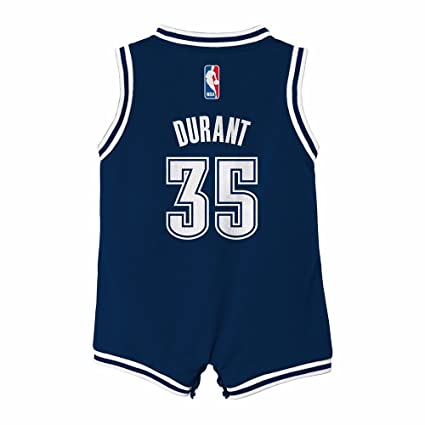 2589c35b581 adidas Kevin Durant Oklahoma City Thunder NBA Navy Blue Official Onesie  Alternate Jersey for Infant (