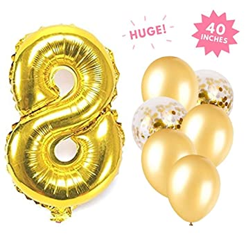 Amazon.com: Número globo globo Suministros de Decoración ...
