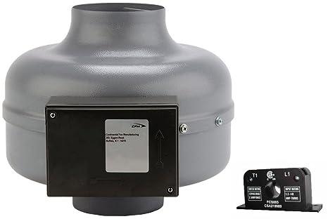 Continental Ventilador fabricación dvk100b-c 152 CFM ventilador de conducto de secador de in-