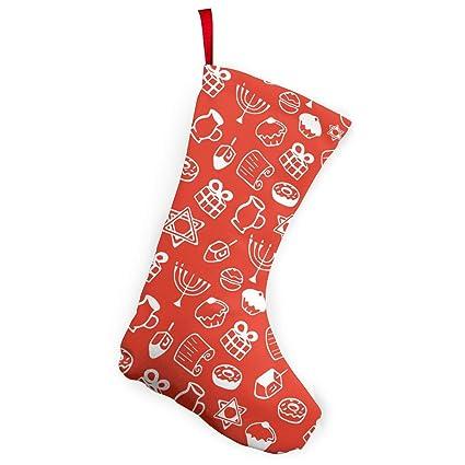 Hanukkah Christmas Stocking.Amazon Com Jewish Holiday Hanukkah Christmas Stocking Santa