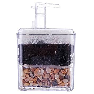 ueetek Corner filtro interno Air Driven filtro bio Esponja cerámica para Fry Shrimp Nano Acuario Acuario: Amazon.es: Productos para mascotas