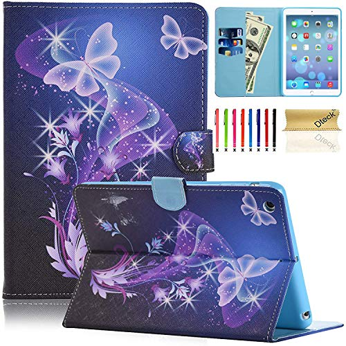 iPad Mini Case, iPad Mini 2 Case, Dteck Slim Fit Folio Stand Case with Card Slots Auto Sleep/Wake Feature Smart Magnetic Cover for Apple iPad Mini 3/2/1 (Twinkle Butterfly)