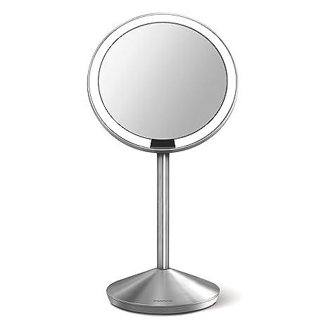 amazon makeup mirror. simplehuman 5 inch sensor mirror, lighted makeup 10x magnification amazon mirror t