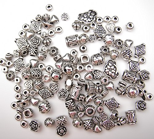 All In One 60g Mixed Antique Silver Tibetan Style Beads Charms Jewelry Findings from All In One