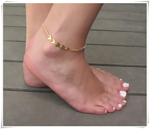 ankle dp beach amazon rose bracelet barefoot gold chain anklet double com jewelry udobuysexy foot crystal
