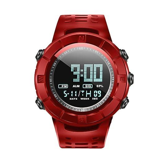 Reloj De Pulsera,Led Fecha Digital Reloj De Los Hombres Waterproof Sport Quartz Watch (Rojo): Amazon.es: Relojes