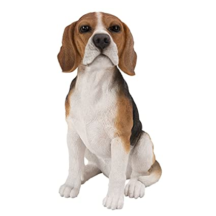 Delicieux Realistic Life Size Beagle Statue Detail Sculpture Glass Eyes Hand Painted  Resin 14 Inch Figurine Home