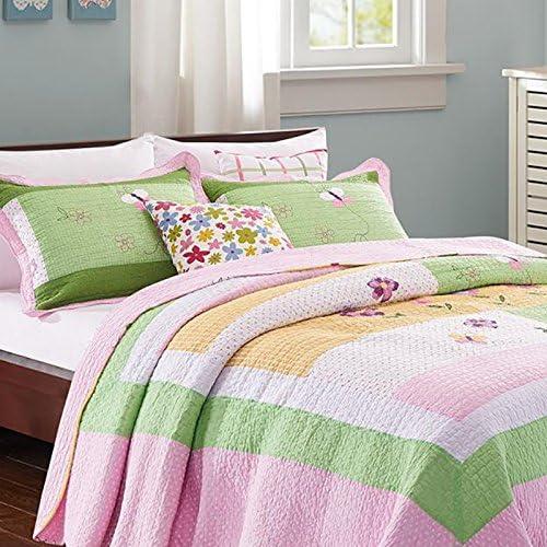 Colcha de algodón edredón manta hermosas negras blancas Coverlets del azul rosa cama marrón cama cubierta de ropa de cama de lino: Amazon.es: Hogar