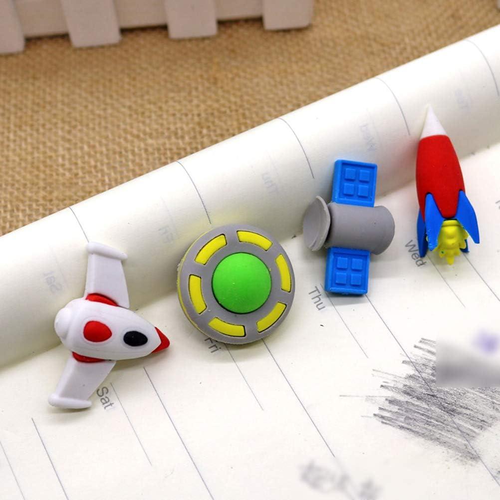 STOBOK 16 st/ücke 3d alien radiergummi fliegen ufo raum entworfen radiergummi 3d puzzle radiergummis weltraum spielzeug f/ür kinder//zuf/ällige stil