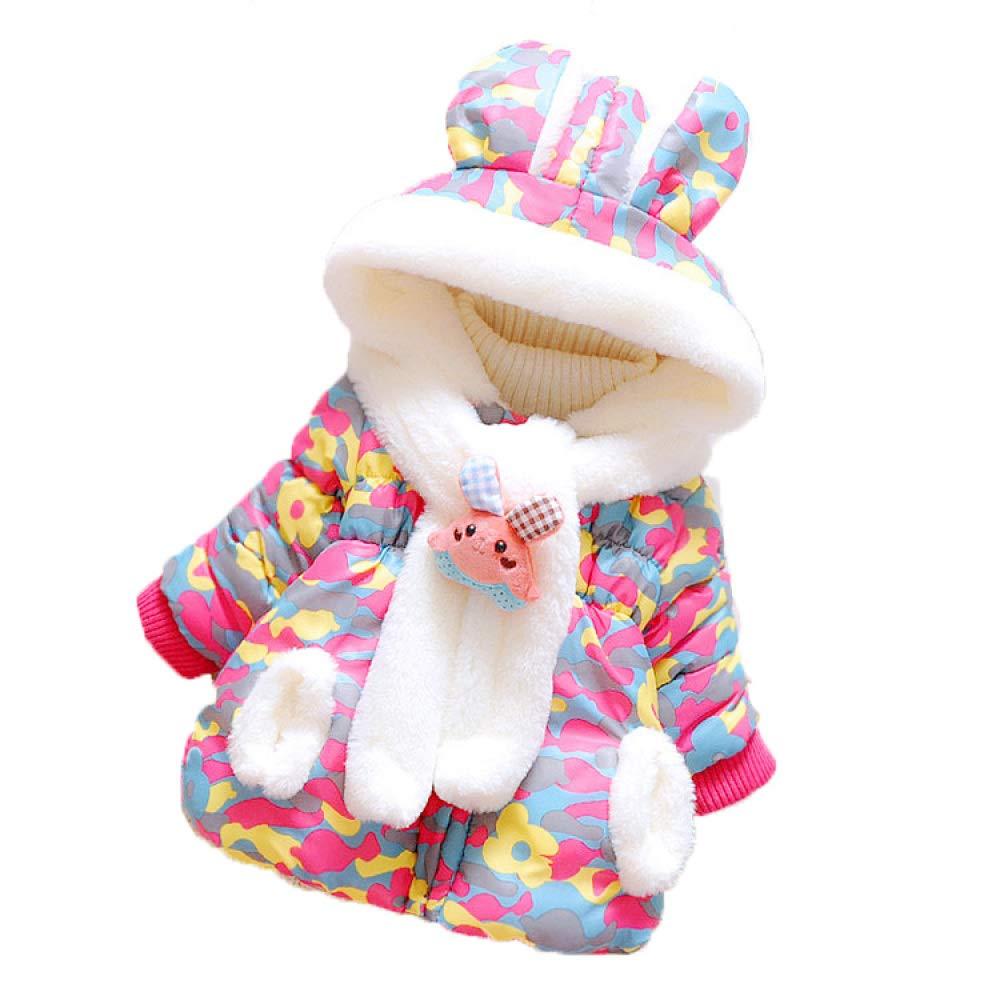 CTO VêteHommests d'hiver Bébé VêteHommests Enfants Bébé Femelle épaisse Manteau Coton Filles Hiver Veste Veste VêteHommests,B,85cm