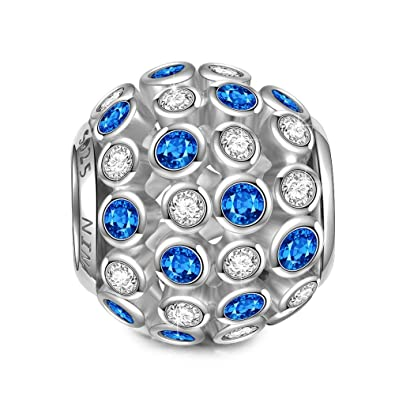 Pandora Charms Weihnachten.Ninaqueen Charm Fur Pandora Charms Armband Geschenk Fur Frauen Weihnachten Punkte Silber 925 Perlen