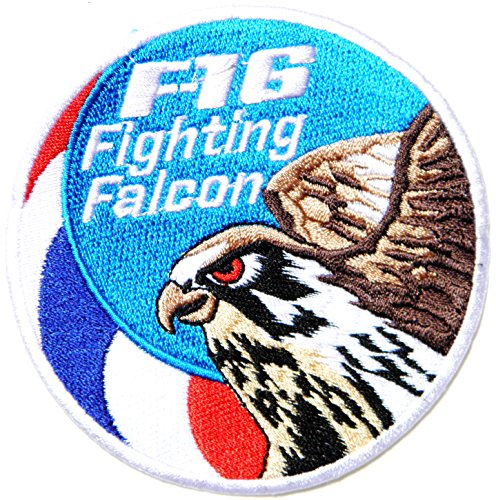 F 16 FIGHTING FALCON USAF US Air Force Logo Jacket Uniform Patch Sew Iron on Embroidered Sign Badge Costume