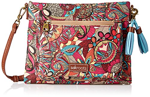 Sakroots108005 - Petit sac à bandoulière Camden Femme Berry Spirit Desert