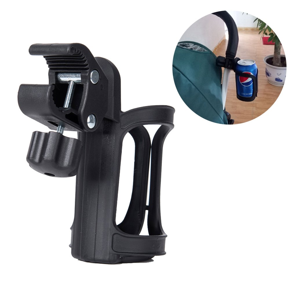 Freshday Universal Baby Strollers Cup Holder, 360° Rotation Drink Bottle Cup Holder Rack for Stroller, Bicycle or Wheelchair