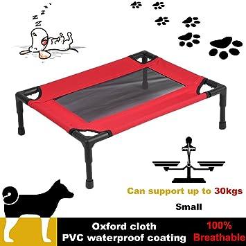 Binghotfireuk Marco de Tubo de Acero Transpirable para Mascotas, Perros, Canasta, Cama Plegable