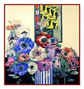 Anemone Flowers Charles Rennie Mackintosh's Counted Cross Stitch Pattern