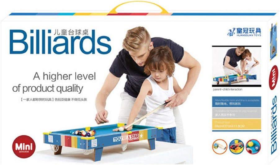 Lcyy-game Mini Juego de Billar de Mesa El Juego de Billar Incluye Pelotas de Juego, Palos, Tiza, brocha y triángulo portátil y diversión para Toda la Familia: Amazon.es: Hogar