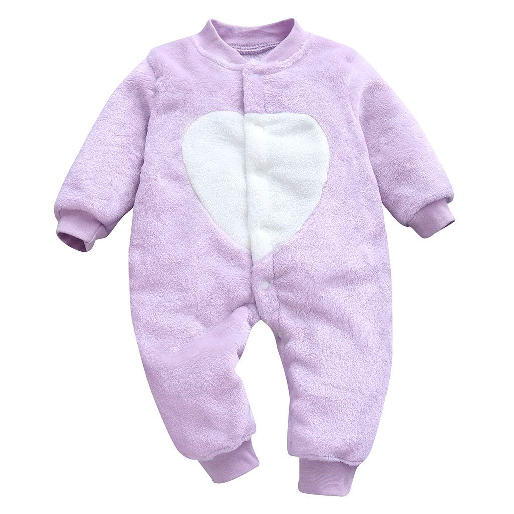 Lanhui Newborn Romper Baby Girls Boys Loving Heart Print Jumpsuit Clothes