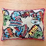 Travel Memory Foam Pillow- Marvel Comics/Red Plush