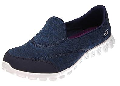 Skechers Ex Flex 2 Women's Fashion Slip on Sneakers, Navy/White/Purple 6
