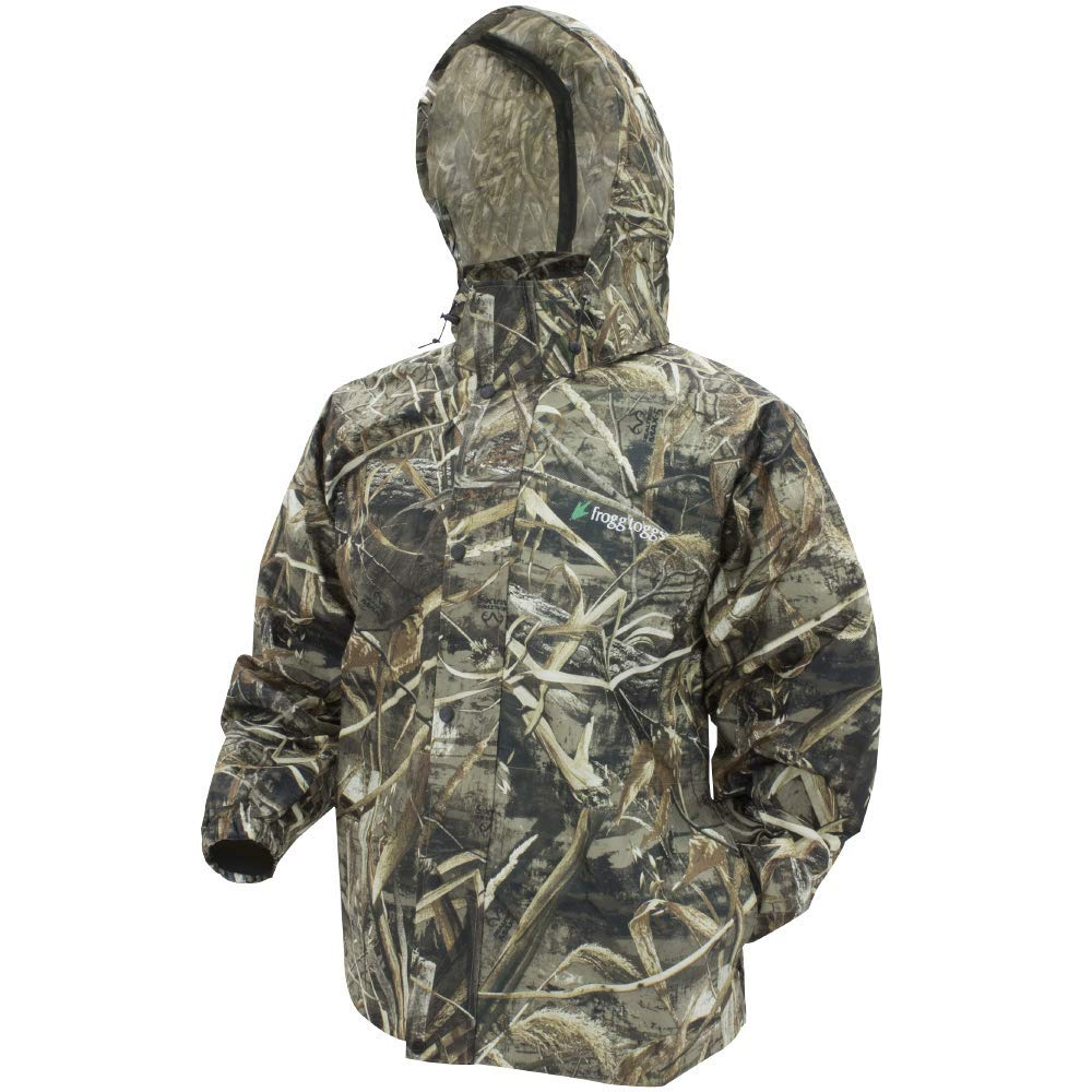 Frogg Toggs Pro Action Rain Jacket, Realtree Max5, Size Small by Frogg Toggs