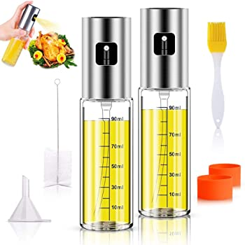 Anmyox Olive Oil Sprayer Set 5-in-1 Oil Dispenser Glass Bottle