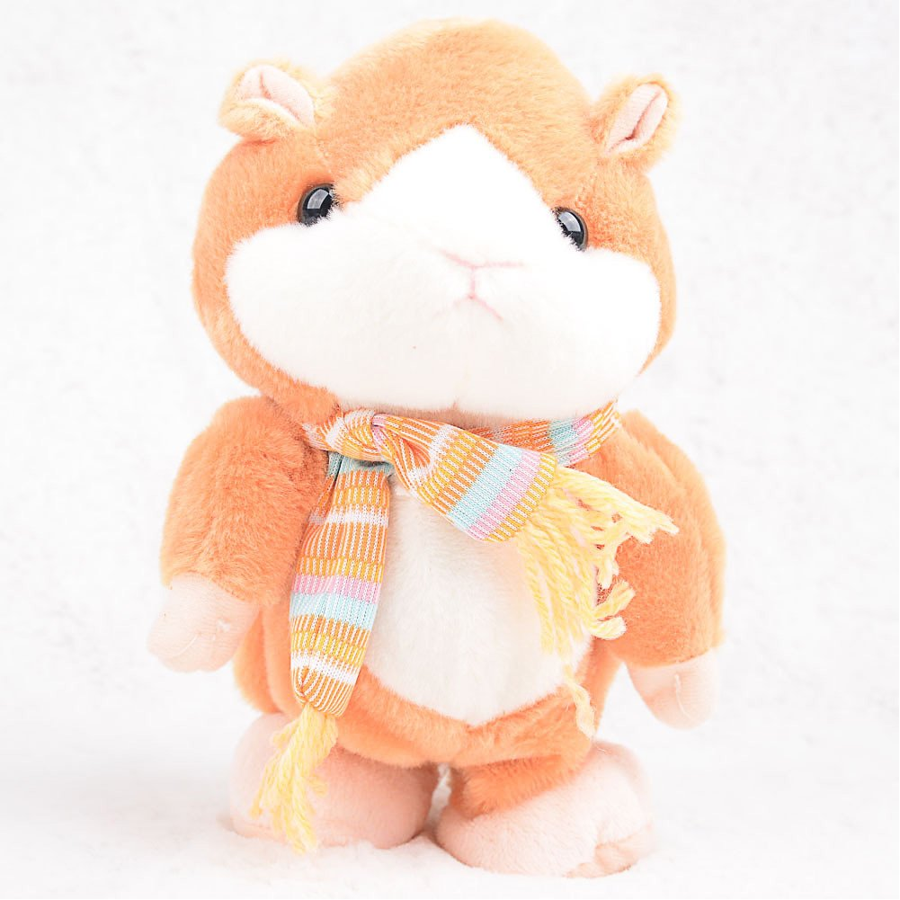 Qiyun Electric Hamster Toy Children Intellectual Cute Plush Hamster Toy Electric Toy with Sound Recorder Walking Functions style:Yellow; height:20cm by Qiyun