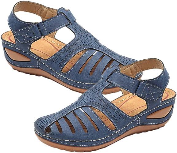 Happyyami Wedge Sandals Womens Closed
