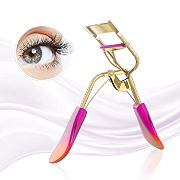 54ca0a8cbb9 Amazon.com : BMK Eyelash Curler Professional False Eyelashes Curler  Individual lash Curler Portable Stainless Steel Handle Makeup Curling with  Non- toxic ...