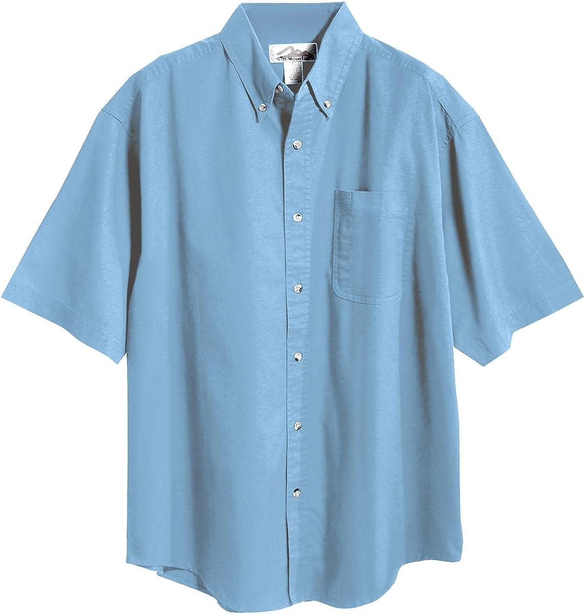 Tri-Mountain Men/'s Recruit Blend Twill Shirt with Teflon Stain Resistant Finish