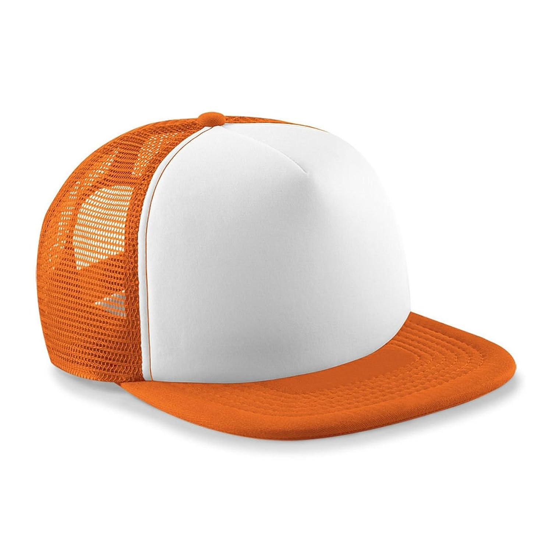 Kids Vintage Snap Back Trucker Cap Orange/White
