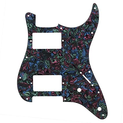 Amazon.com: Yibuy 3 Ply Guitar Pickguard Scratch Plate HH for Electric Guitar Replacement Multicolor PVC: Musical Instruments