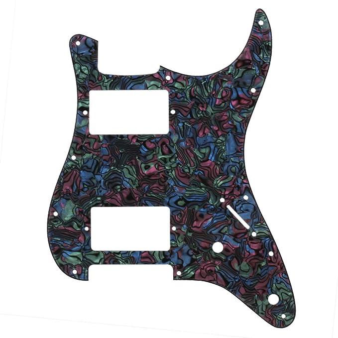yibuy 3 capas Guitarra Pickguard arañazos Plate HH para guitarra ...