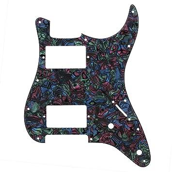 yibuy 3 capas Guitarra Pickguard arañazos Plate HH para guitarra eléctrica de repuesto multicolor PVC: Amazon.es: Instrumentos musicales